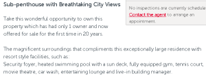 An example of how a real estate agent has use the word 'compliments' incorrectly. It should read 'complement'.
